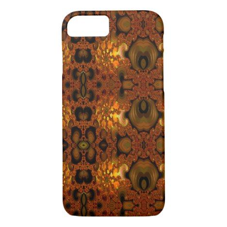 Fire Fractal Pattern iPhone 8/7 Case #fractal #pattern #iphone #protective #cases