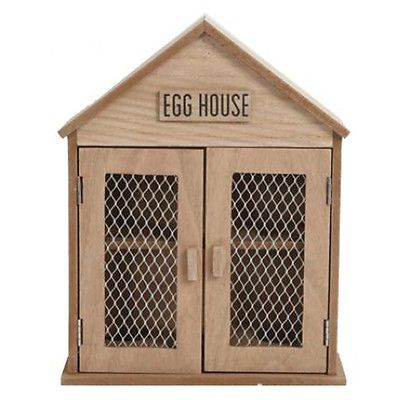SHABBY CHIC RUSTIC WOODEN CHICKEN HEN EGG HOLDER HOUSE STORAGE KITCHEN CABINET