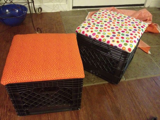 The best way to make milk crate seats
