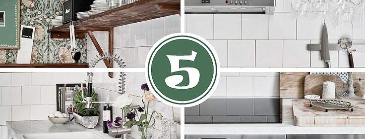 Коллаж из фотографий для статьи о современной кухне с фасадами из нержавейки в скандинавском стиле