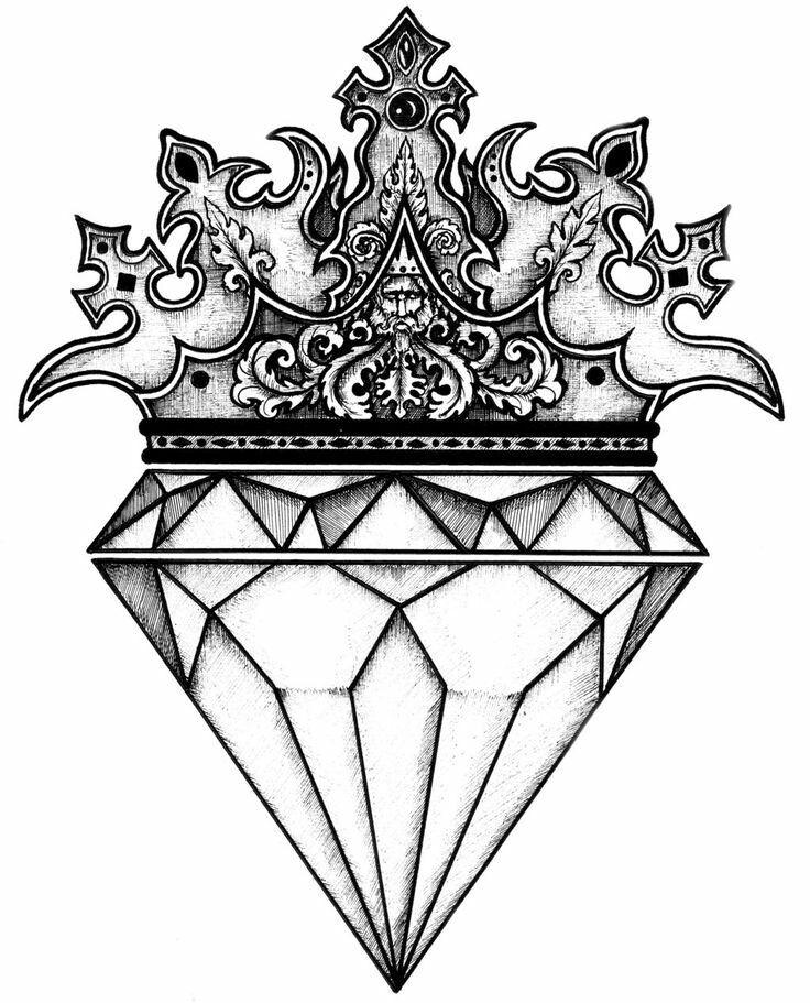 Pin By Evelin Millons On Para Tatuar Diamond Drawing Diamond Tattoo Designs Drawings