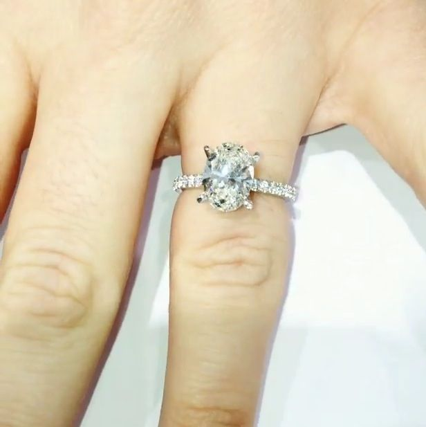 Beautiful 2 carat oval engagement ring Another e Bites The Dust