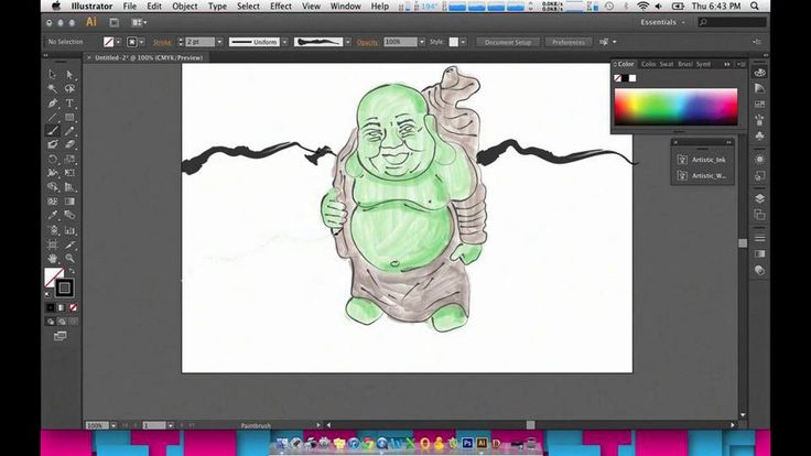 Buddha Watercolor Illustration Tutorial - Adobe Illustrator CS6 on Vimeo