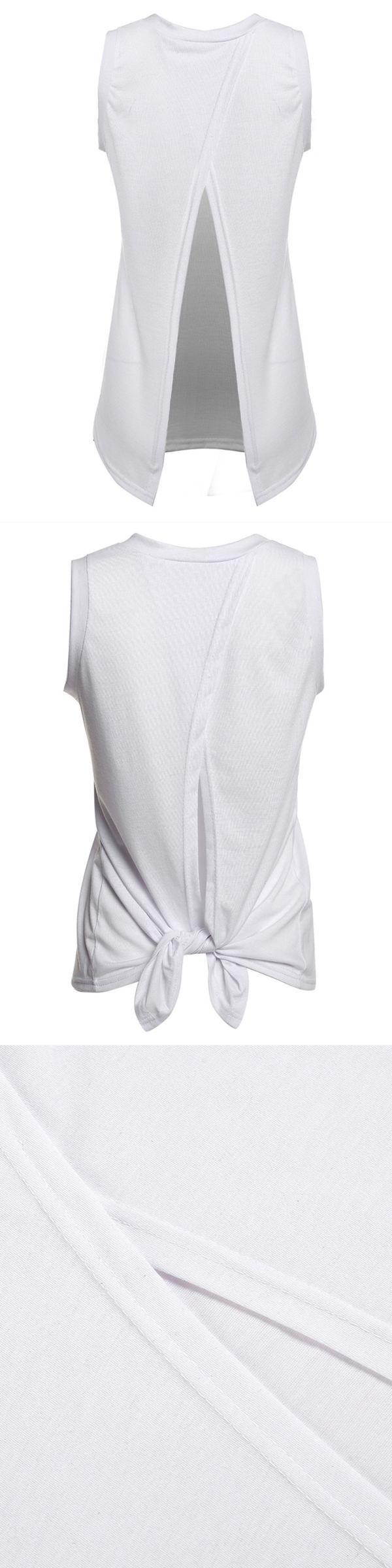 Sexy women sleeveless solid white back split cotton vest tank top champion women#8217;s tank tops #kenny #chesney #womens #tank #tops #knitted #tank #top #pattern #girl #society6 #womens #tank #tops #womens-ribbed-cotton-tank-tops-3