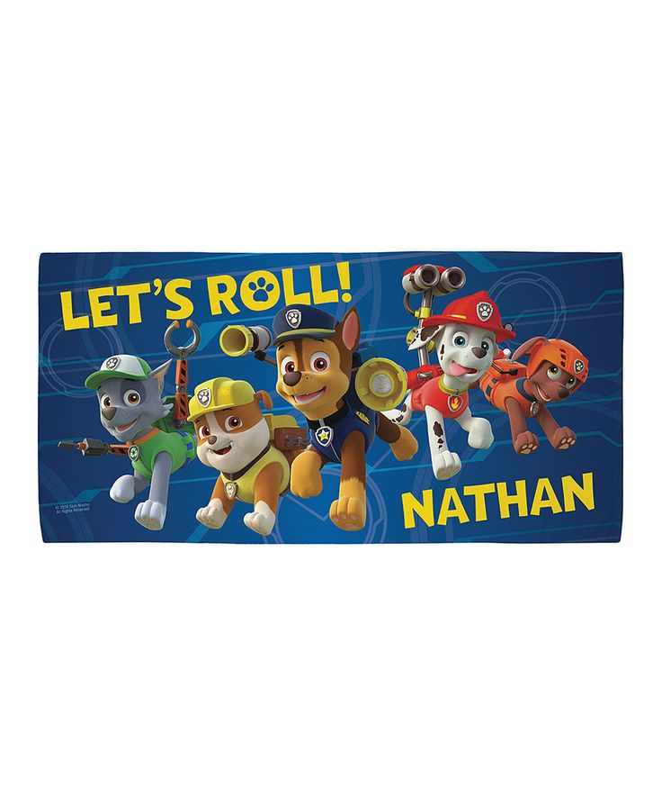 Personalized Paw Patrol Beach Towel: 9 Best Paw Patrol Images On Pinterest