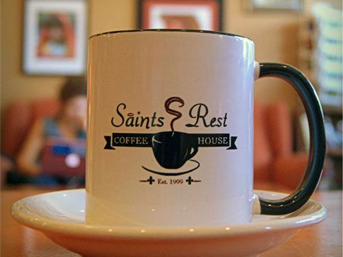 Saints Rest Coffee House in Grinnell, Iowa - #1 Coffee Shop In Iowa, Country Living Magazine #getintogrinnell #thisisiowa