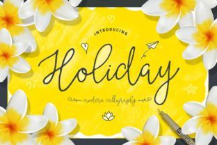 http://Holiday font by Blessed Print.
