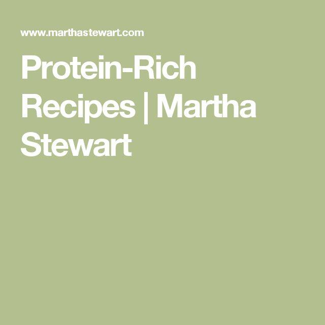 Protein-Rich Recipes   Martha Stewart