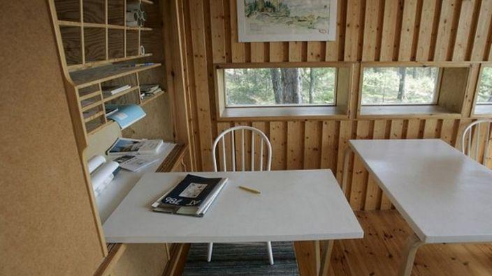 Ralph Erskine utnyttjade de 20 kvadratmetrarna väl i sitt sommarhus