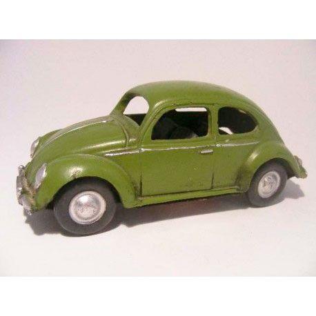 Volkswagen Kever van gietijzer met ovaal achterruit legergroen - VW beetle