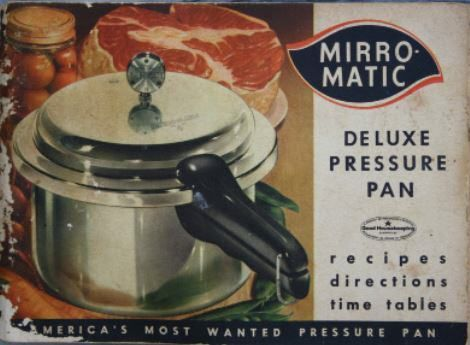 Please note that vintage pressure cooker manuals may encourage techniques or methods which are no longer considered safe or should not be used with modern pressure cookers.     Download Manufacturer Website: Mirro