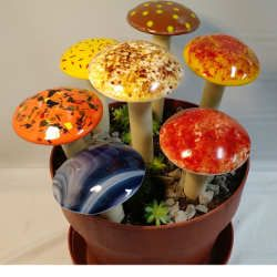 Four Fused Glass Mushrooms Inspiration Kit
