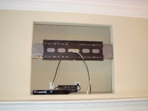 Installing a Flat Panel TV in a fireplace nook