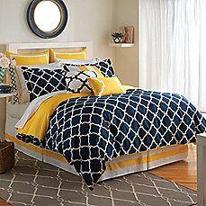 image of Jill Rosenwald Hampton Links Reversible Comforter Set