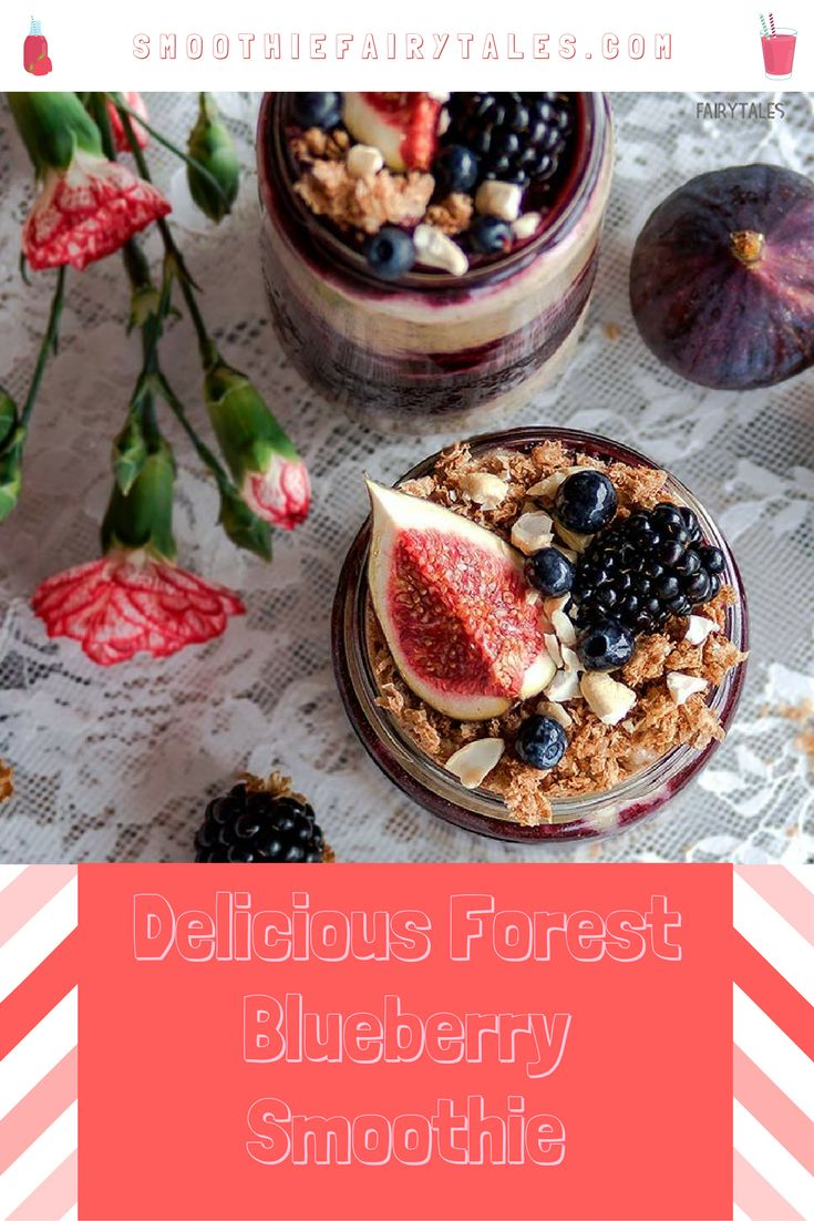 Healthy Delicious Forest Blueberry Smoothie