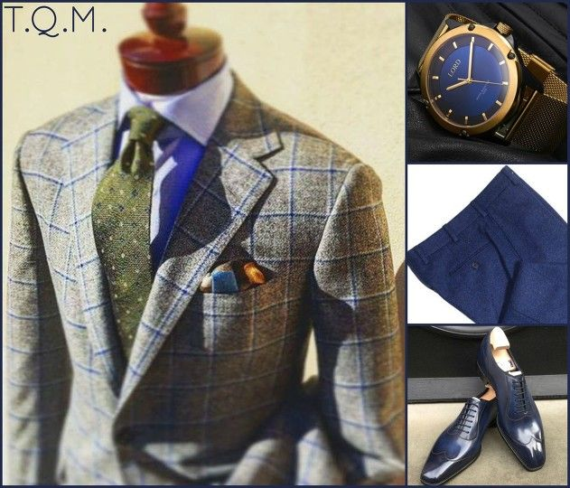 BUSINESS STYLE: Unknown(Sportcoat)-Lord(Watch)-Howard Yount(Trousers)-G&G(Shoes)