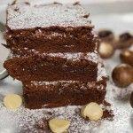 Chocolate Fudge Macadamia Brownies