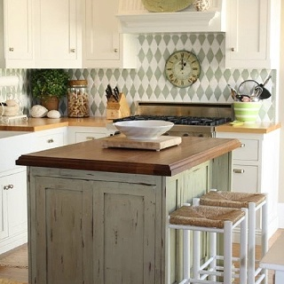 green kitchen island for the home pinterest