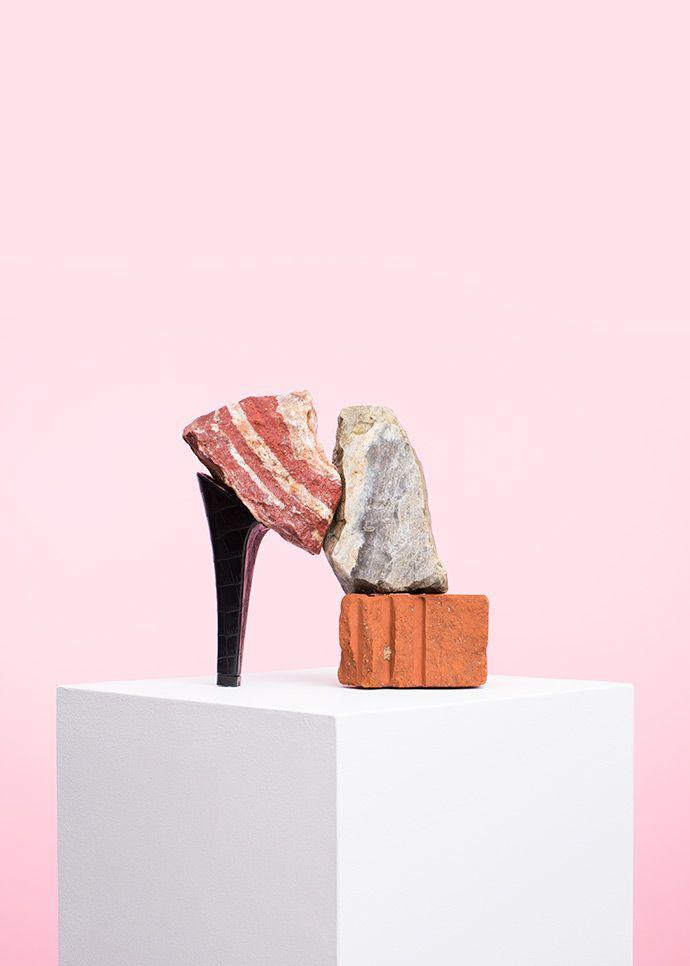bricks made into high heelPUTPUT Studio | OLDSKULL