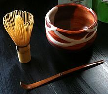 3 piece set for making Matcha,including whisk (chasen), bowl (chawan) and spoon (chashaku)