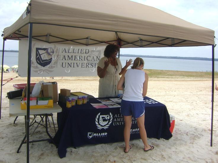AAU Education Coordinator Belinda Henderson at Family Fun Day at Fort Gordon #USArmyMWR