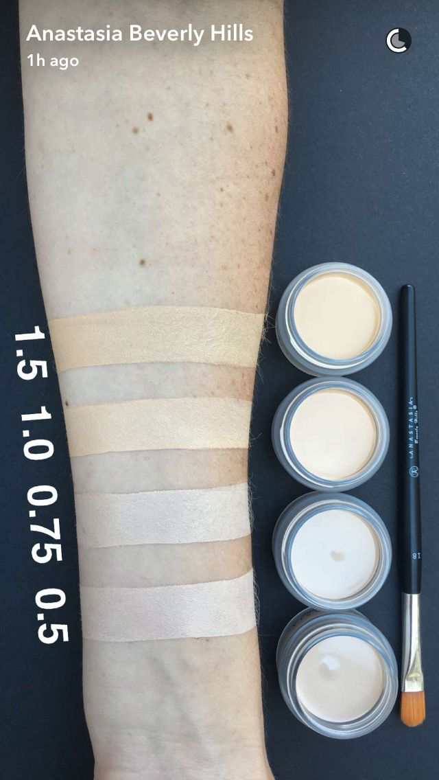 Pinterest: TrillkissesXo  Anastasia of Beverly Hills concealer swatches fair abh