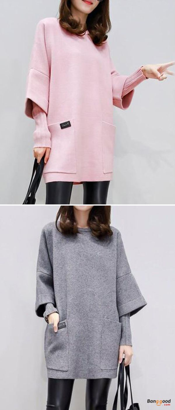 US$16.99 + Free shipping. Size: L~5XL. Color: Pink, Gray. Fall in love with casual and fashion style! Plus Size Women False Two Pieces Woolen Dress. #dresses #tops #plussize #howtowear
