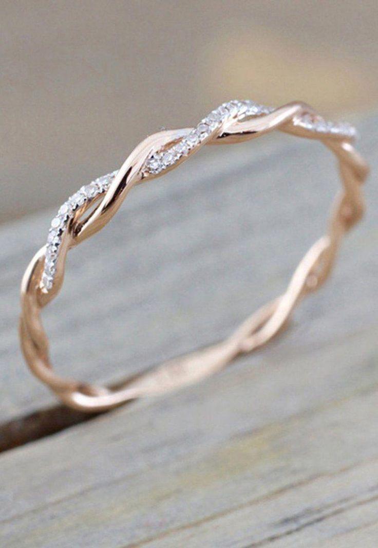 Einfacher zierlicher Ring für jeden Tag Modeschmuck für Teenager