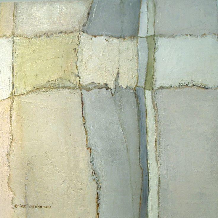 Enide Benhamou. Les murs de Caujac - 46x46