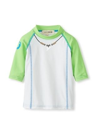 66% OFF Hang Ten Gold Boy's The Big Gun Rash Guard (Grey/Green)