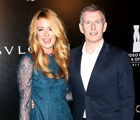 TV Personality Cat Deeley and her husband, Writer Patrick Kielty attend the Rodeo Drive Walk of Style honoring BVLGARI on December 5, 2012 in Beverly Hills, California.