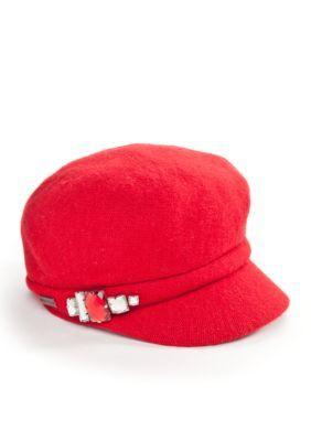 Betmar Hats Women's Rhinestone Cap - Red - One Size