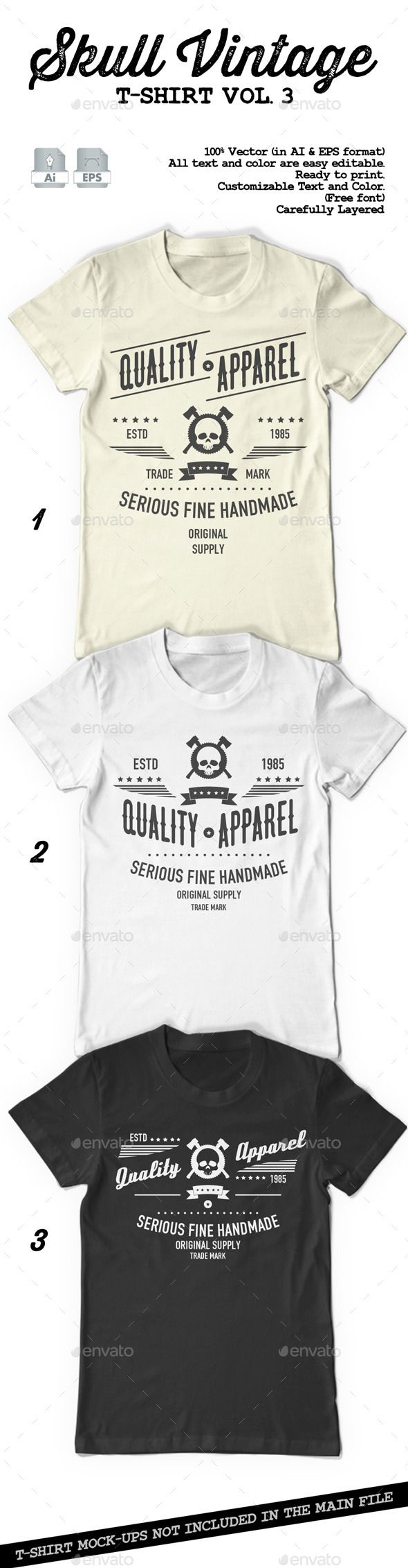 Skull Vintage T-Shirt Vol. 3