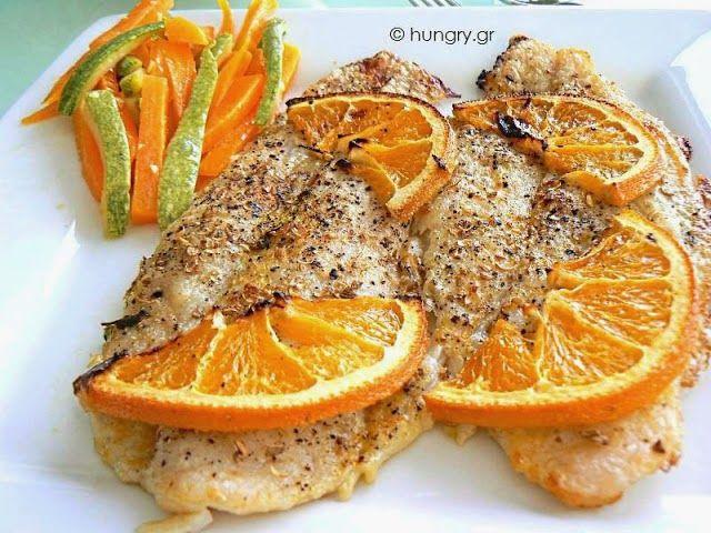 Φιλέτο ψαριού με σάλτσα πορτοκαλιού(2 μονάδες)