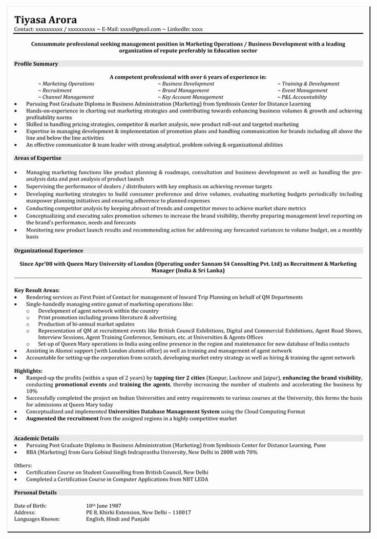 Marketing Resume Objective Examples Best Of Resume