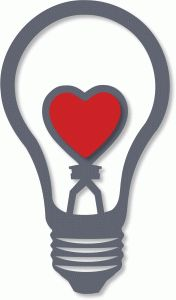 Silhouette Design Store - View Design #37647: love heart light bulb - lamp