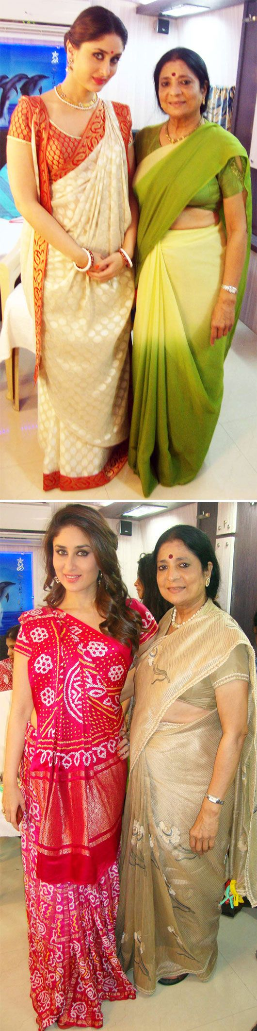 Kareena Kapoor draped by Master Saree Draper Kalpana Shah: bengali & gujarati saree drape styles