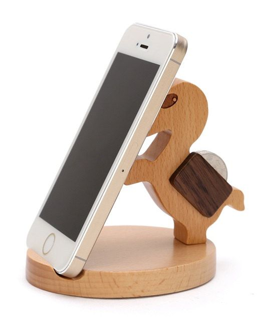 Wooden Phone Stand, Desktop Phone Holder, Phone Docking Station, Smartphone Stand, Phone Holder