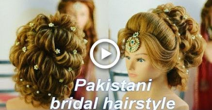 bridal hairstyle in india || hindu bridal hairstyle || pakistani mix hairstyle || bridal - #Bridal #hairstyle #hindu #india #mix