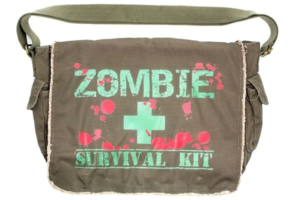 Zombie Survival Kit - Messenger Bag $39.95