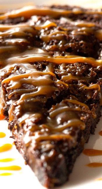 Salted Caramel Brownie Pie  http://deliciouslyyum.com/salted-caramel-brownie-pie/#more-2611