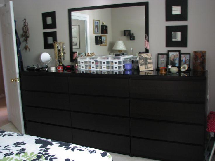 malm 3 drawer dresser black 1