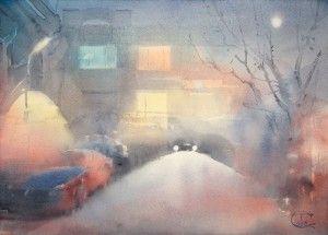 """Луна над ночной улицей"" | ""Moon over night street"""