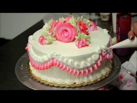 Смотреть превосходное украшение свадебного торта! - YouTube