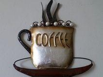 Vintage wanddeko tasse cafe