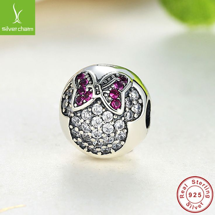New Fashion Real 925 Sterling Silver Minnie Pave Clip Charm Beads Fit Original Pandora Bracelet Pendant Authentic Women Jewelry www.bernysjewels.com #bernysjewels #jewels #jewelry #nice #bags