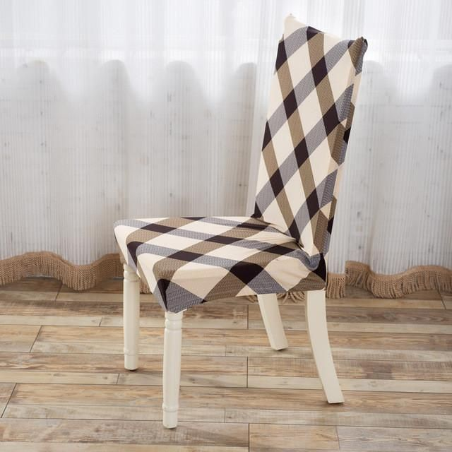Household Seat Covers Stretch Dining Chair Covers For Restaurant, Weddings #ChairRestaurant #DiningChair