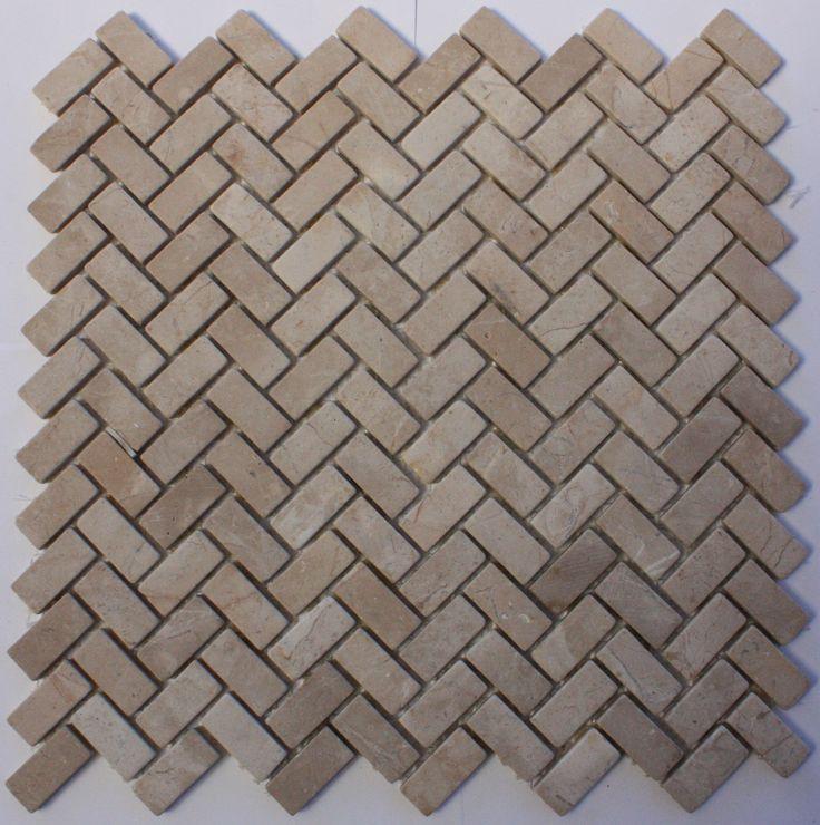 Beige V Strips - Marble Mosaic