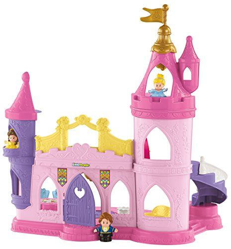 Disney Princess characters Belle and Cinderella each had magical moments on the dance floor. And now with the Disney Princess Musical Dancing Palace by Little People little ones can recreate those s...