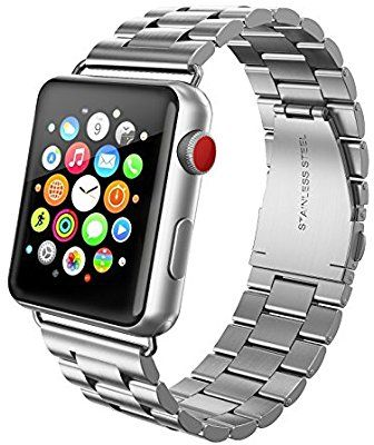 b67f84f7ad4b79 Amazon.com: SWEES Stainless Steel Metal Bands Compatible iWatch 42mm Apple  Watch Series 4